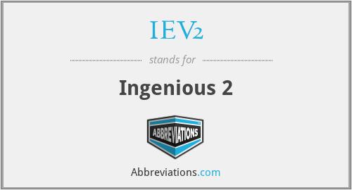 IEV2 - Ingenious 2