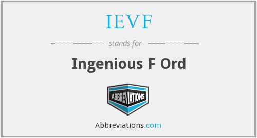 What does IEVF stand for?