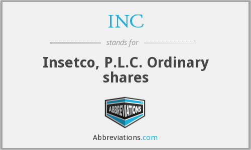 INC - Insetco, P.L.C. Ordinary shares