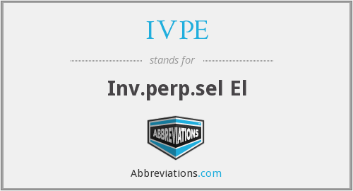 What does IVPE stand for?