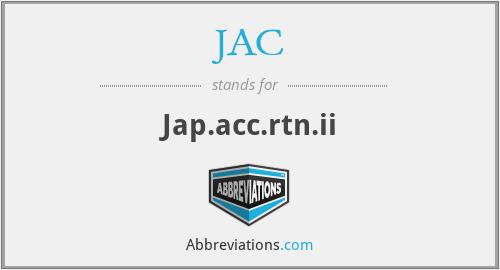 JAC - Jap.acc.rtn.ii