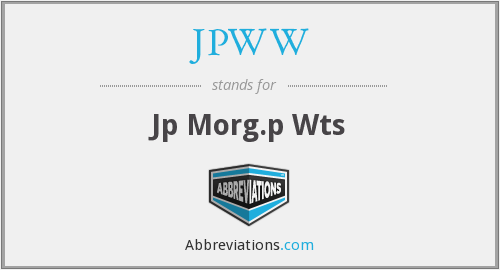 What does JPWW stand for?