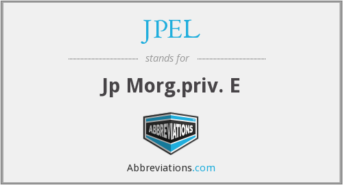 What does JPEL stand for?
