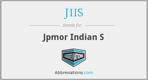 What does JIIS stand for?