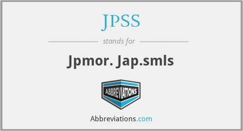 JPSS - Jpmor. Jap.smls