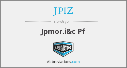 What does JPIZ stand for?