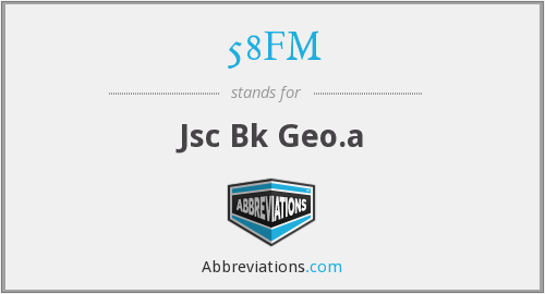 What does 58FM stand for?