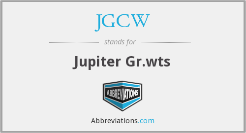 What does JGCW stand for?