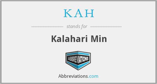 KAH - Kalahari Min