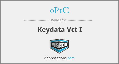 0P1C - Keydata Vct I