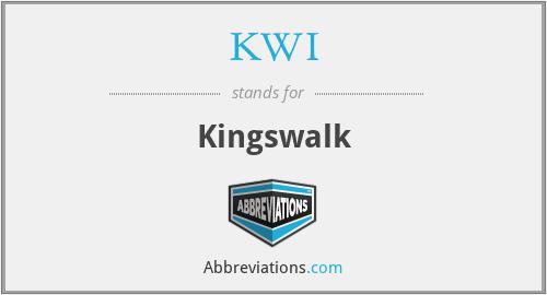 KWI - Kingswalk