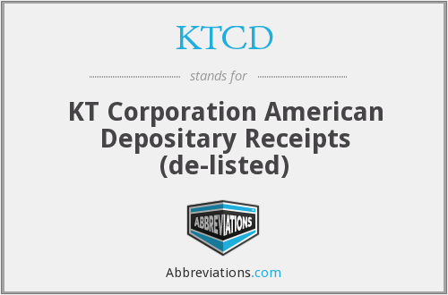KTCD - KT Corporation American Depositary Receipts  (de-listed)