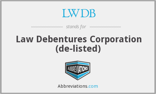 LWDB - Law Debentures Corporation  (de-listed)