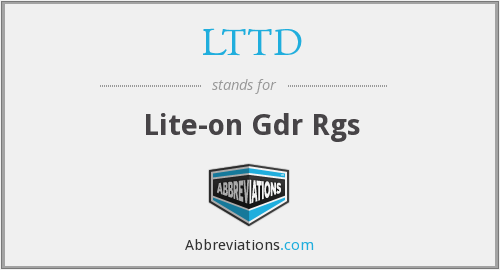 What does LTTD stand for?