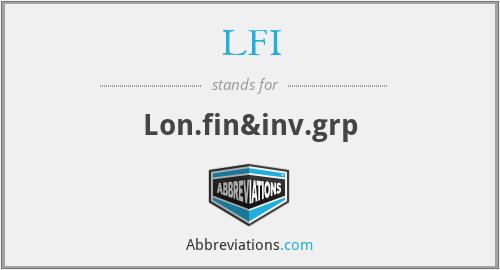 LFI - Lon.fin&inv.grp