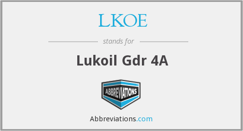 What does LKOE stand for?