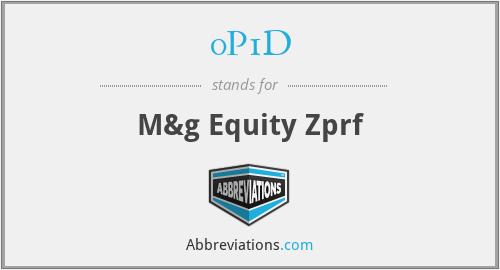 0P1D - M&g Equity Zprf