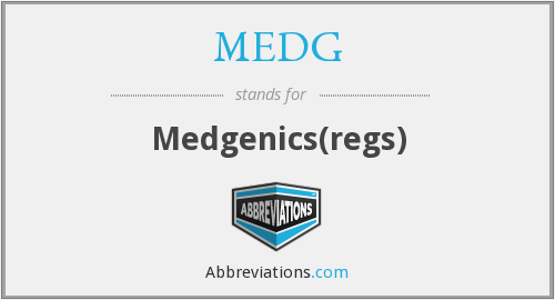 What does MEDG stand for?