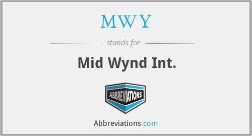 MWY - Mid Wynd Int.