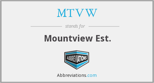 What does MTVW stand for?