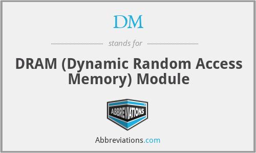 DM - DRAM (Dynamic Random Access Memory) Module