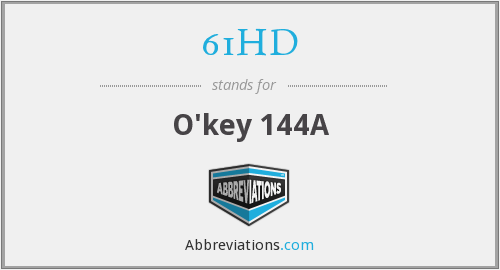 What does 61HD stand for?