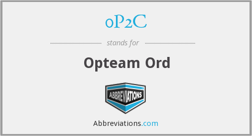 0P2C - Opteam Ord