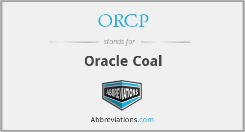 ORCP - Oracle Coal