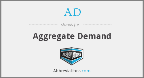 AD - Aggregate Demand