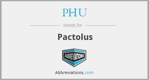 What does PHU stand for?