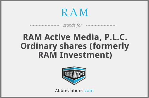 RAM - RAM Active Media, P.L.C. Ordinary shares (formerly RAM Investment)