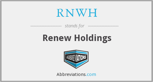 RNWH - Renew Holdings