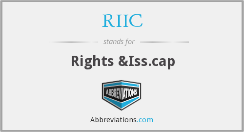 What does RIIC stand for?