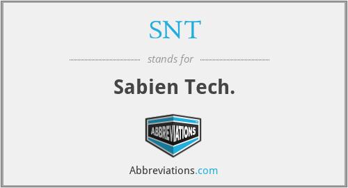 SNT - Sabien Tech.