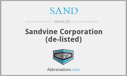 SAND - Sandvine Corporation  (de-listed)