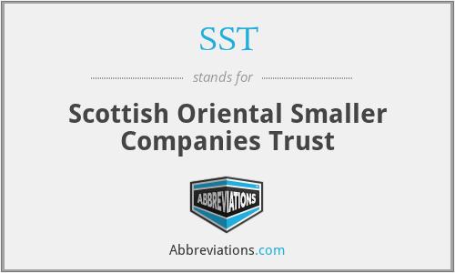 SST - Scottish Oriental Smaller Companies Trust