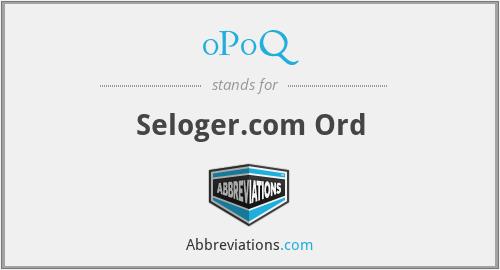 0P0Q - Seloger.com Ord