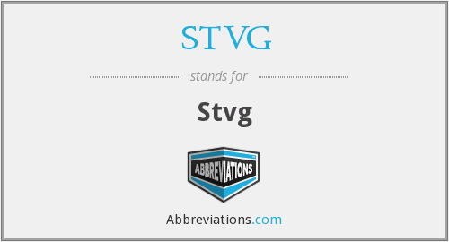What does STVG stand for?