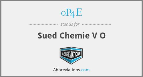 0P4E - Sued Chemie V O