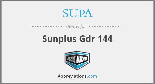 SUPA - Sunplus Gdr 144