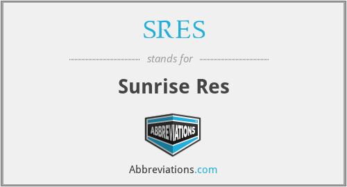 SRES - Sunrise Res