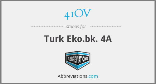 41OV - Turk Eko.bk. 4A