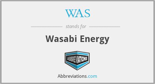 WAS - Wasabi Energy