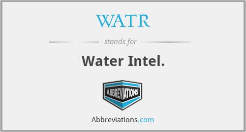 WATR - Water Intel.