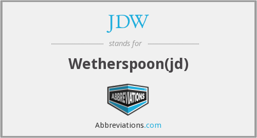 JDW - Wetherspoon(jd)