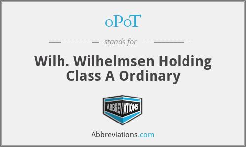 0P0T - Wilh. Wilhelmsen Holding Class A Ordinary