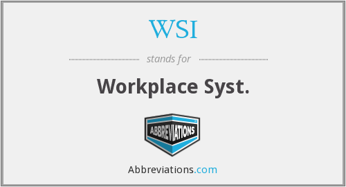 WSI - Workplace Syst.