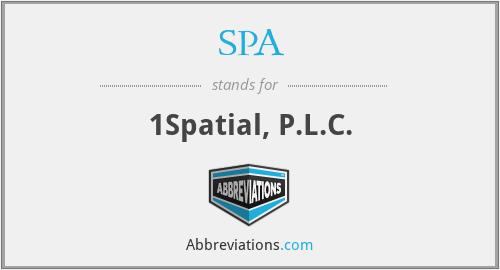 SPA - 1Spatial, P.L.C.