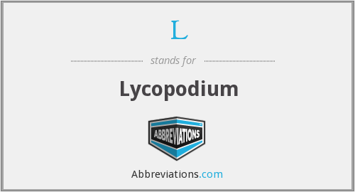 L - Lycopodium
