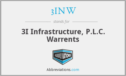 3INW - 3I Infrastructure, P.L.C. Warrents
